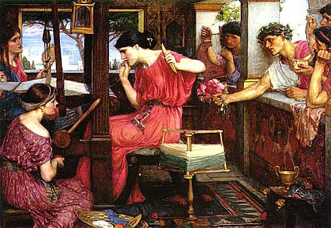 John William Waterhouse-Penelope And The Suitors