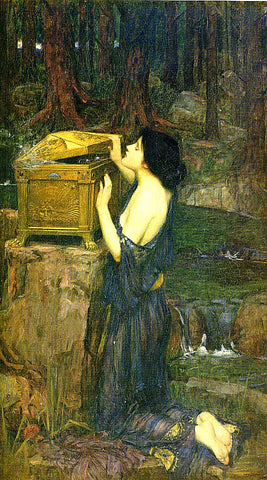 John William Waterhouse-Psyche Opening the Box