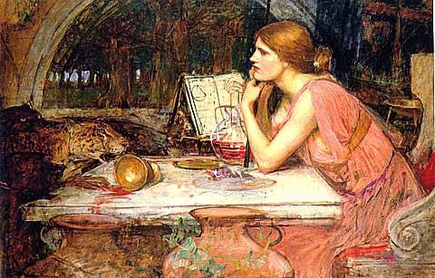 John William Waterhouse-The Sorceress