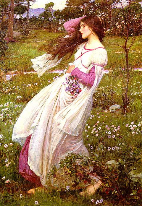 John William Waterhouse-Windflowers