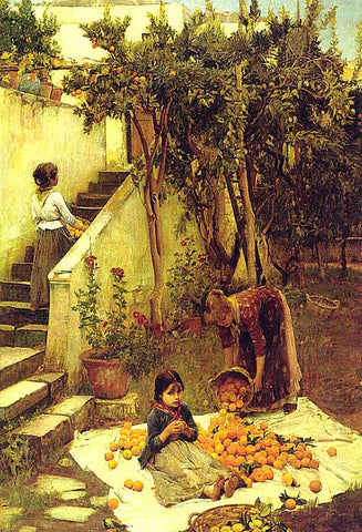 John William Waterhouse-The Orange Gatherers
