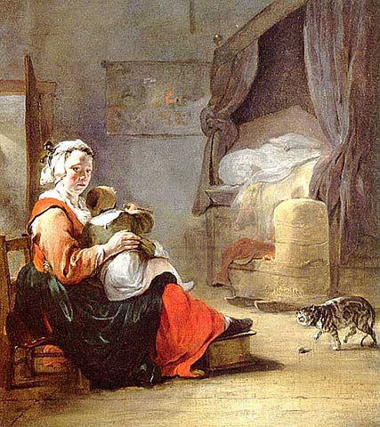Weenix-Mother And Child With Cat