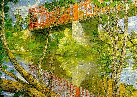 Alden Weir-The Red Bridge