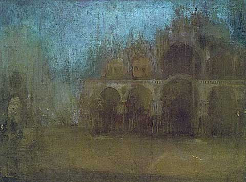 James Whistler-Nocturne Blue And Gold