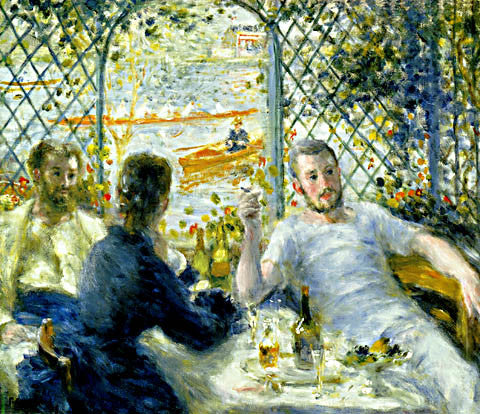 Pierre Auguste Renoir-The Rowers Lunch 1879