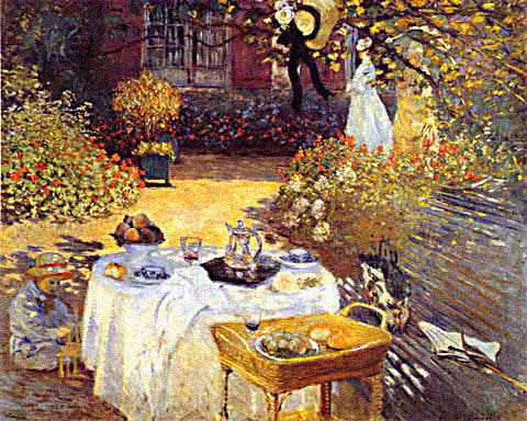 Claude Monet- Garden Luncheon
