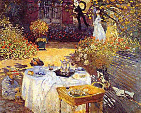 Claude Monet-Luncheon in the Garden
