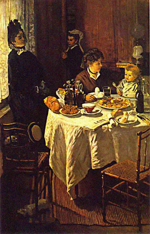 Claude Monet-Luncheon
