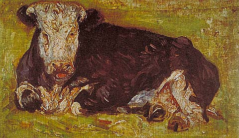 Vincent Van Gogh-Lying Cow 1883