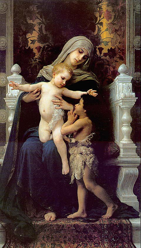 William Adolphe Bouguereau-Madonna And Child With St John The Baptist