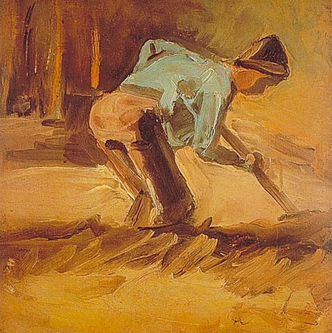 Vincent Van Gogh-Man Digging 1882