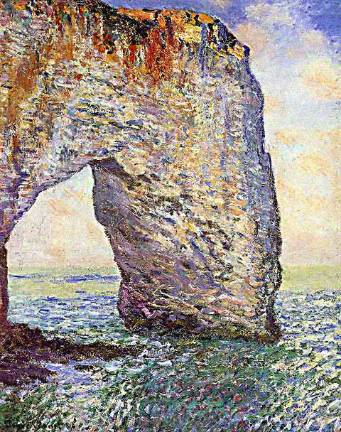 Claude Monet-Manneporte at Etretat