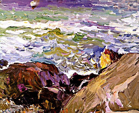 Joaquin Sorolla-The Clift At Ibiza