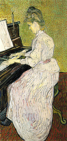 Vincent Van Gogh-Marguerite Gauche At The Piano