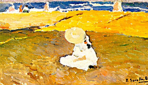 Joaquin Sorolla-Maria At The Beach