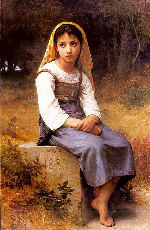 William Adolphe Bouguereau-Meditation #1