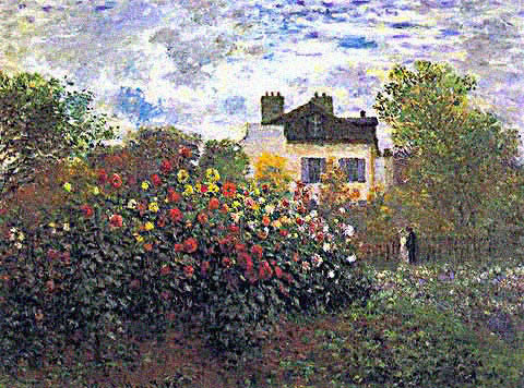 Claude Monet-Monets Garden at Argenteuil
