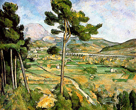 Paul Cezanne-Mont Sainte Victoire Seen From Bellevue