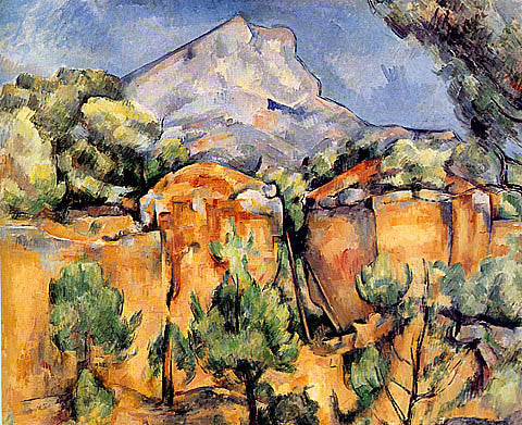 Paul Cezanne-Mont Sainte Victoire Seen From Bibemus