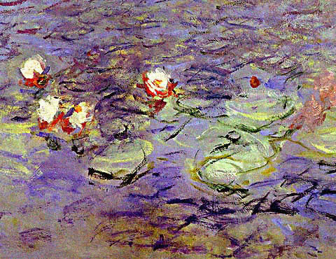 Claude Monet-Morning (Detail-1)
