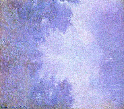 Claude Monet-Misty Morning on the Seine
