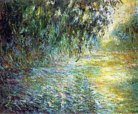 Claude Monet-Morning on the Seine in the Rain