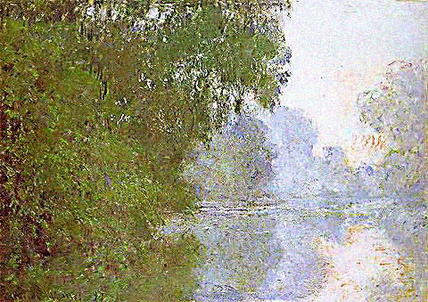 Claude Monet-Morning on the Seine Misty Effect