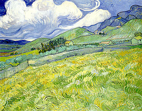 Vincent Van Gogh-Mountain Landscape