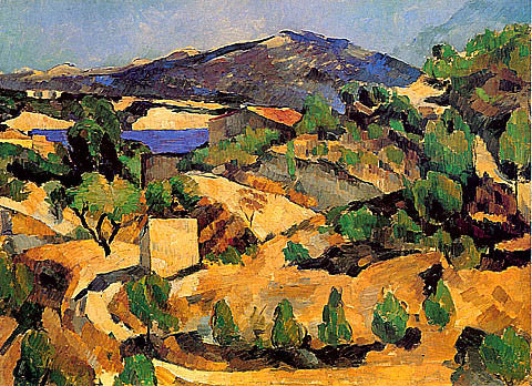 Paul Cezanne-Mountains In Province 1874
