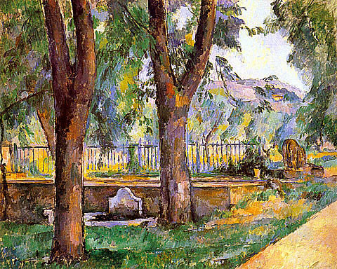 Paul Cezanne-Near The Pool At The Jas De Bouffan