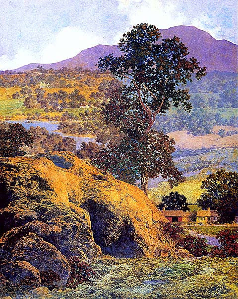 Maxfield Parrish-New Hampshire Hills