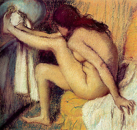 Edgar Degas-Nude Woman Drying Her Foot 1885