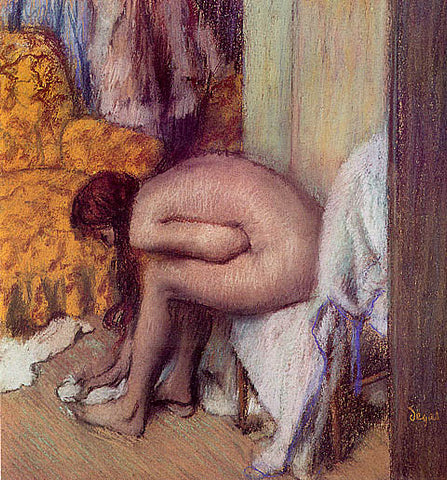 Edgar Degas-Nude Woman Drying Her Foot 1886