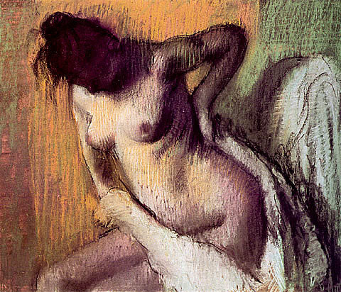 Edgar Degas-Nude Woman Drying Herself