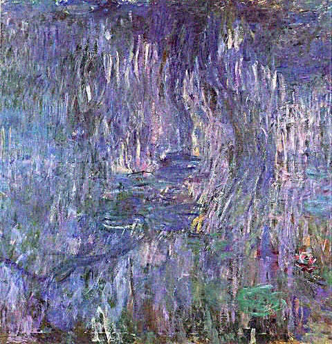 Claude Monet-Nympheas Reflection of Willows