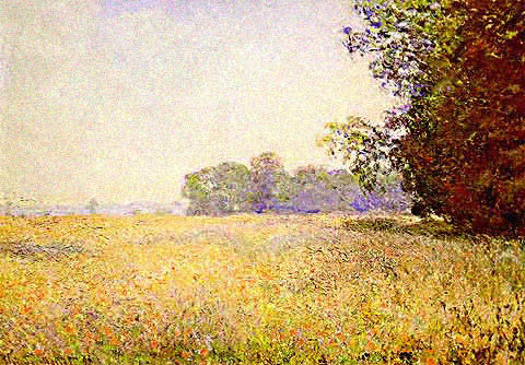 Claude Monet-Oat Field