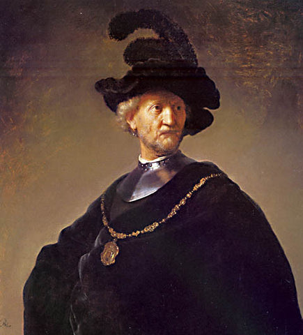 Rembrandt-Old Man With A Gold Chain