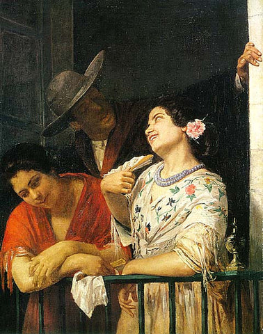 Mary Cassatt-On The Balcony