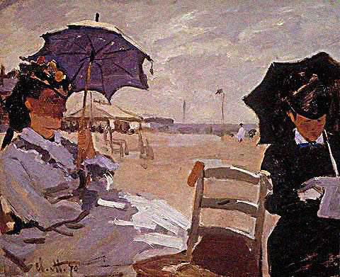 Claude Monet-On the Beach 1870