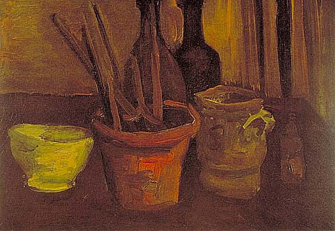Vincent Van Gogh-Paintbrushes 1884