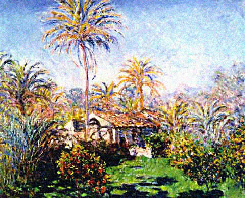 Claude Monet-The Garden and Palm Trees at Bordighera