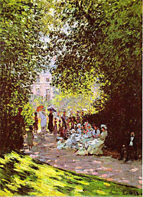 Claude Monet-Parisians in the Park Monceau