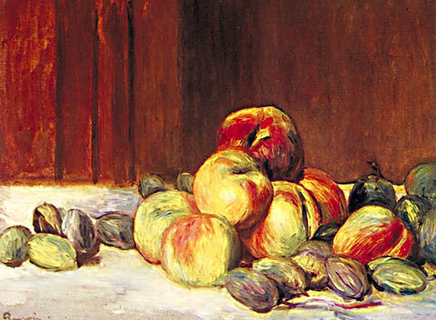 Pierre Auguste Renoir-Peaches And Almonds 1901