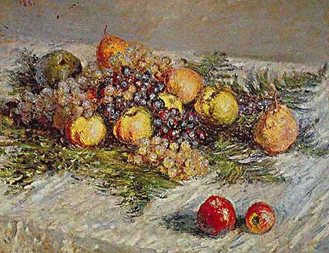 Claude Monet-Pears and Grapes 1880