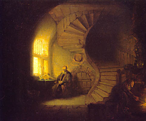 Rembrandt-Philosopher  In Meditation