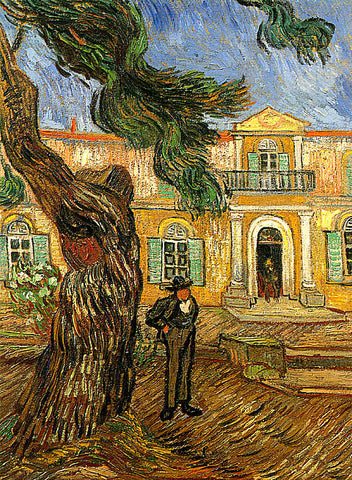 Vincent Van Gogh-Pine Tree In Front Of The Entrance To The Asylum