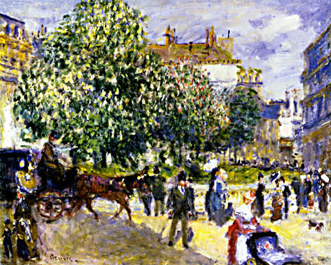 Pierre Auguste Renoir-Place De La Trinite Paris 1875