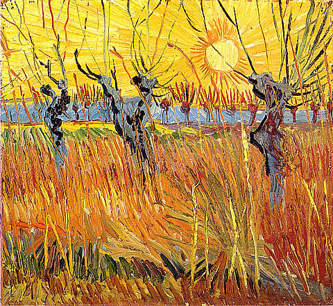 Vincent Van Gogh-Pollard Willows Setting Sun