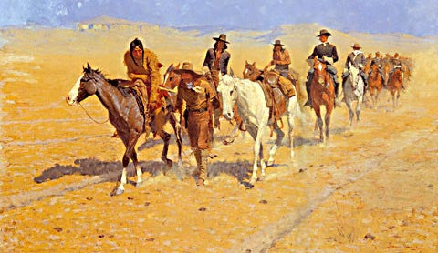 Frederic Remington-Pony Tracks In The Buffalo Trails