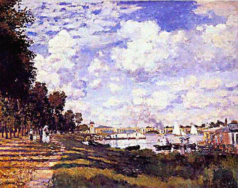Claude Monet-Pool at Argenteuil